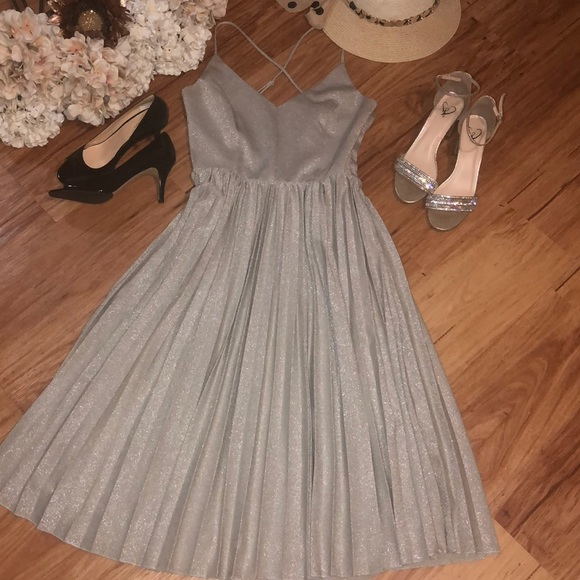 Anthropologie Dresses & Skirts - Anthropology silver dress